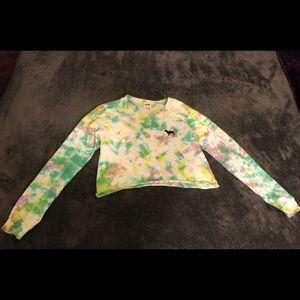 Pink crop sweater